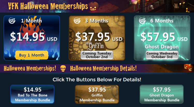 VFK HALLOWEEN 2018 MEMBERSHIPS