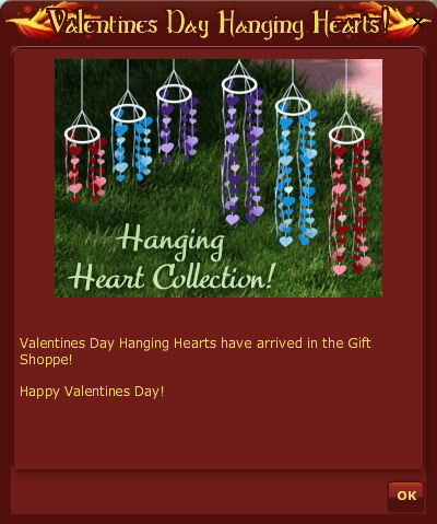HANGING HEARTS POP UP