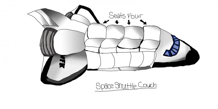 VFK SPACE SHUTTLE COUCH COLOR MILLSFAN
