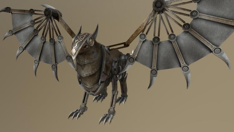Suggest_STEAMPUNK_GRIFFIN FIGURE