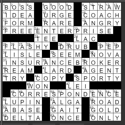 Regular Crossword Feb 29, 2020