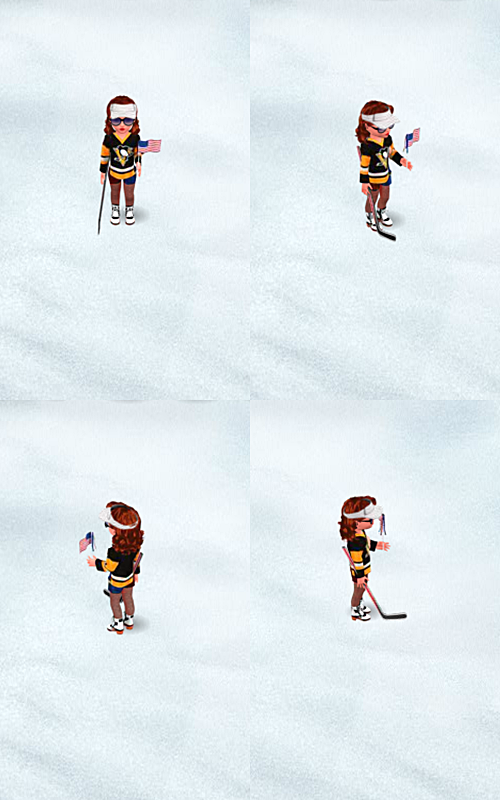 PENGUINS TOP HOCKEY GIRL COLLAGE