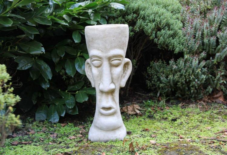 Easter-Island-Head-Stone-Garden-Ornament-Statue-Flower