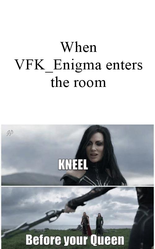 kneel before your queen meme 1