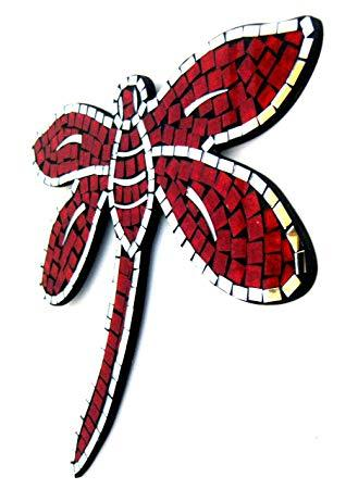 Dragon FLy Mosaic Wall Art ReD