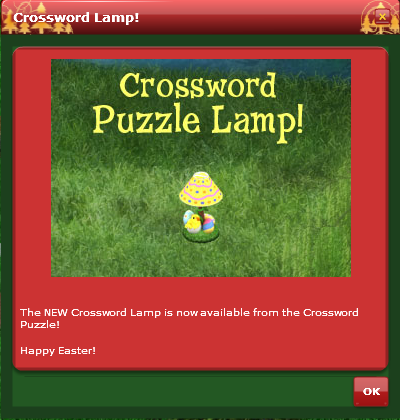 VFK EASTER puzzle lamp CROSSWORD
