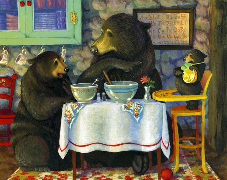 goldilocks --bear-art-animal-illustrations
