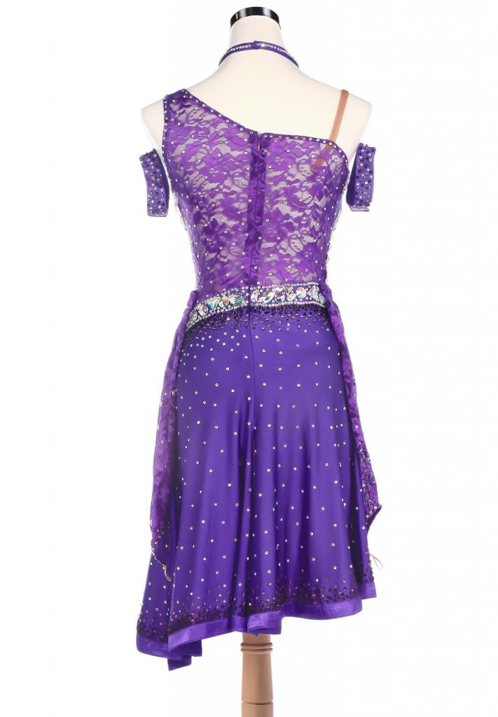 Oblique-Shoulder-Sparkle-Edge-Latin-Rhythm-Dance-Dress-L5201-1b