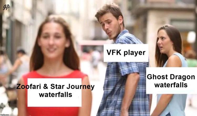 Waterfalls - Distracted BF Meme VFK