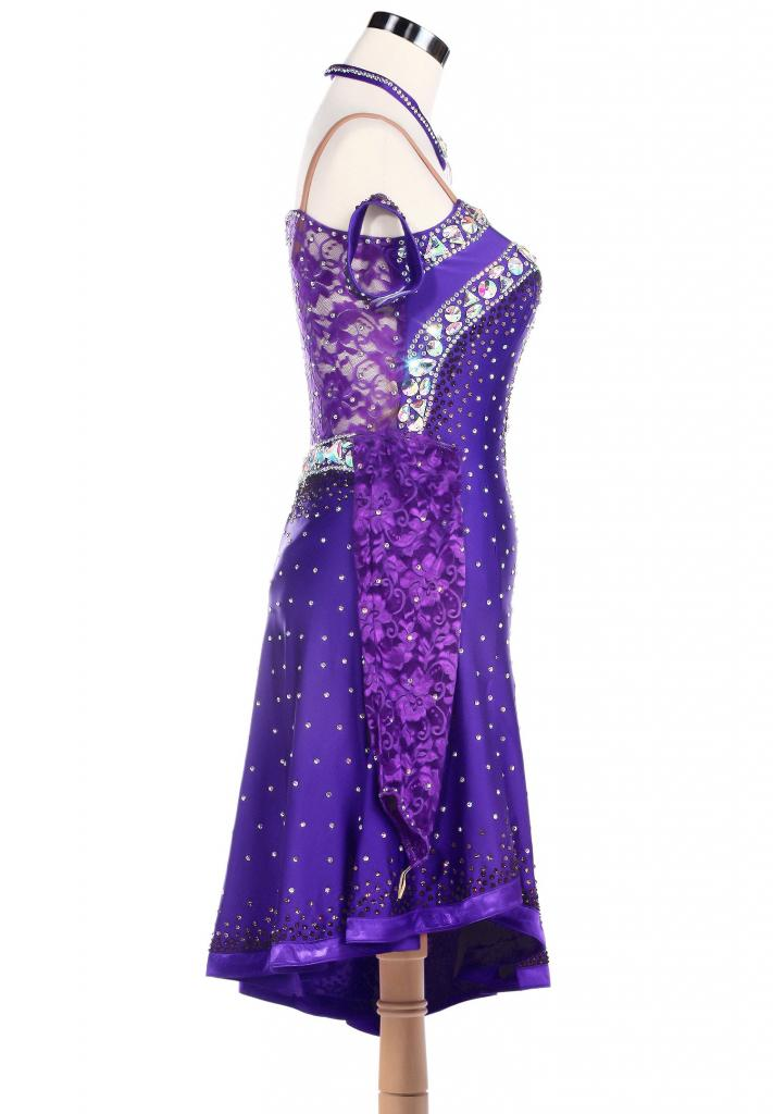 Oblique-Shoulder-Sparkle-Edge-Latin-Rhythm-Dance-Dress-L5201-2b