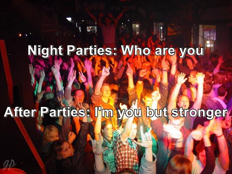 PARTYYYYYYYYYYYYYY PARRRRTTTTYYYYY meme After Parties Night Parties