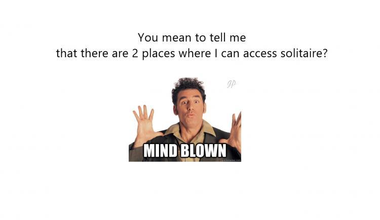 MINDBLOWN guy meme SOLITAIRE
