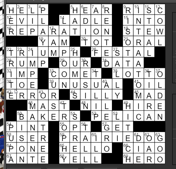 Regular Crossword  Feb 28,  2020