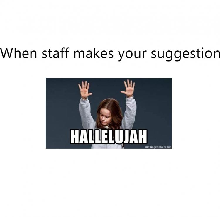 Hallelujah MEME suggestion made