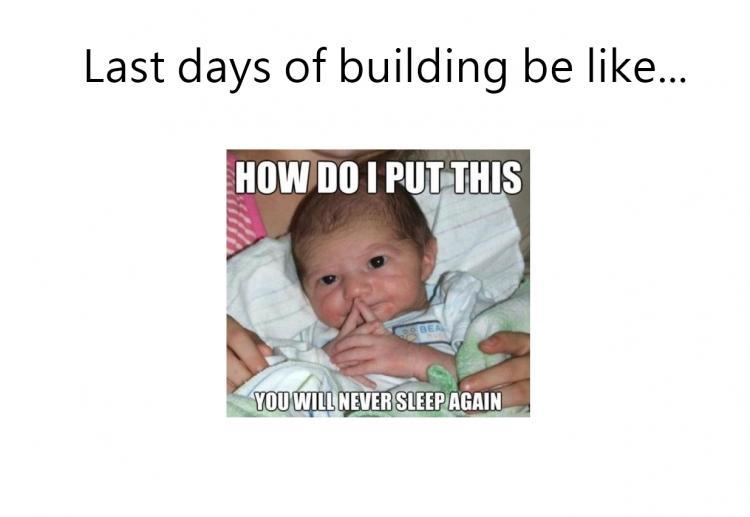 YOU WILL NEVER SLEEP AGAIN meme last days of building