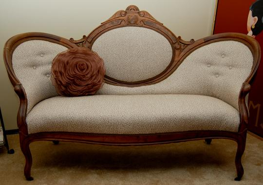 The-Reupholstery-Of-Beths-Antique-Settee-ModHomeEc