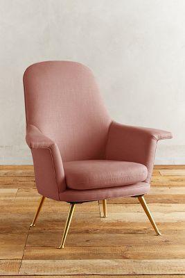 Anthropologie - Linen Kimball Chair