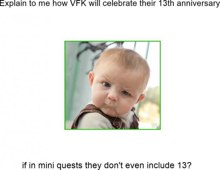 Thoughtful Baby MEME VFK 13th Anniversary