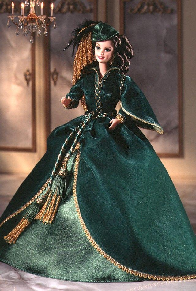 VIVIEN SCARLETT O HARA e0c2f5685444e2149cd4f43521041396--dress-barbie-barbie-girl