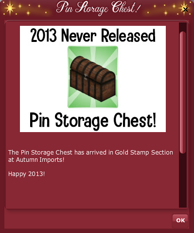2019 2013 VFK RETRO COUNTDOWN - Pin Storage Pop Up