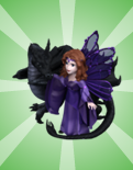 Dragon Castle - Stone Enchantress and Dragon Figure