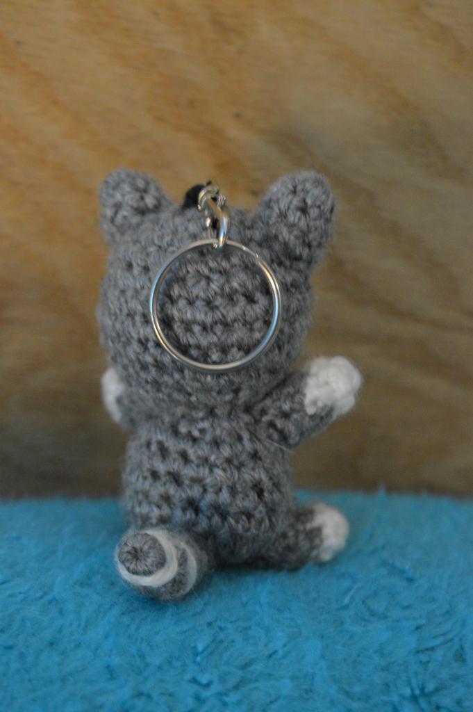 Kitty Backpack Charm 2 (Grey)