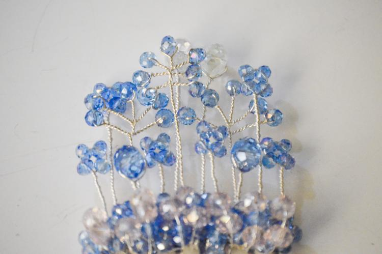 BLUE SPANISH EYES HAIR COMB BY GIFT PRINCESS DESIGN 2