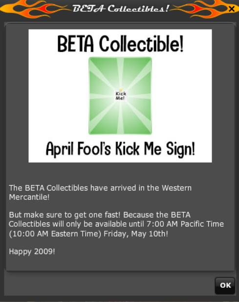 2019 2009 RETRO ANNIVERSARY - beta collectible