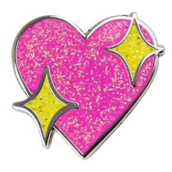 sparklyheartpin
