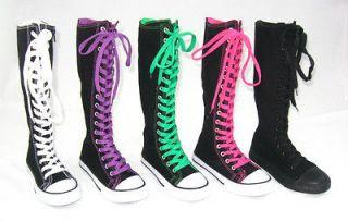 155501182_kids-knee-high-top-canvas-boot-tennis-shoe-sneaker-black
