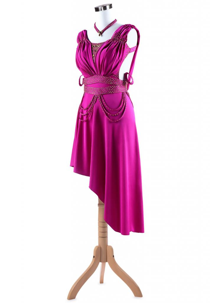 Fierce-Ruching-Asymmetrical-Ruffle-Latin-Competition-Dress-L5270-3b