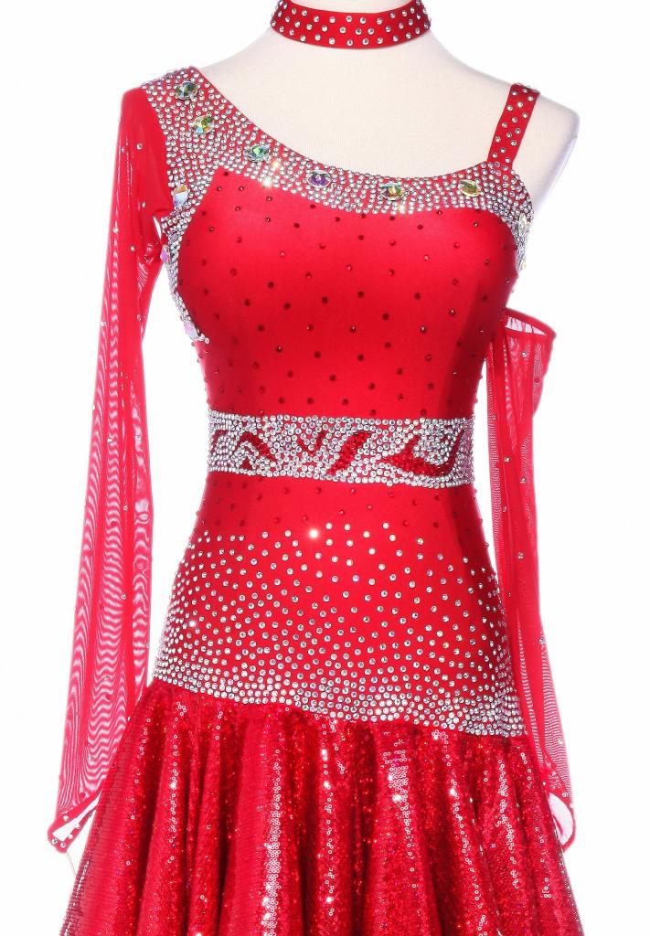Fiery-Sparkle-Sequined-Hem-Asymmetrical-Latin-Dance-Dress-L5228-3b