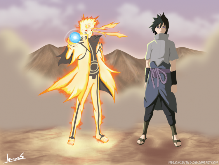 naruto_and_sasuke_full_power_by_melonciutus-d6hwpq3
