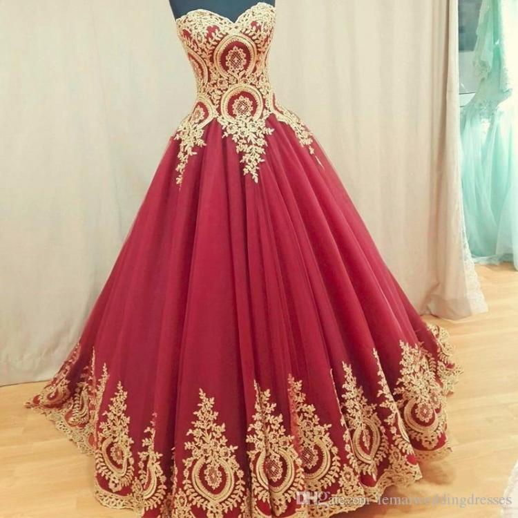 2018-ball-gown-wedding-dresses-turkey-gold