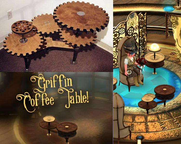 Gear Table - Coffee Table Collage