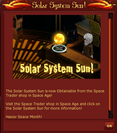 VFK SOLAR SYSTEM SUN POP UP