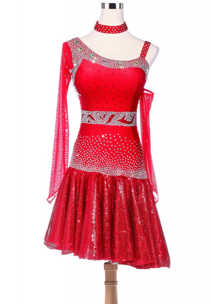 Fiery-Sparkle-Sequined-Hem-Asymmetrical-Latin-Dance-Dress-L5228-b
