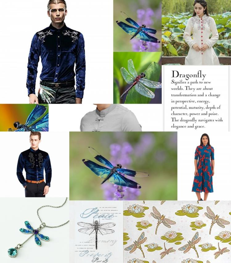 Dragon Fly collage of collages
