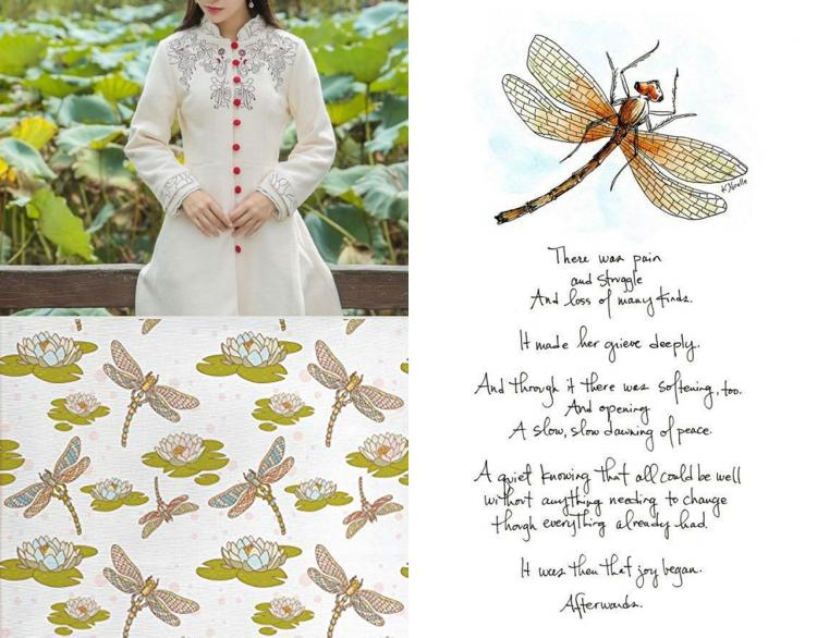 Dragon Fly collage mood boards
