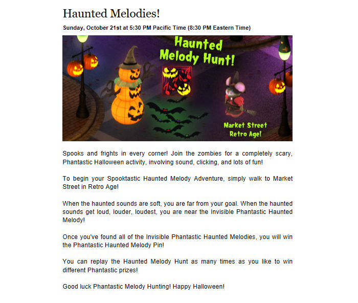 Phantastic Haunted Melodies Prizes