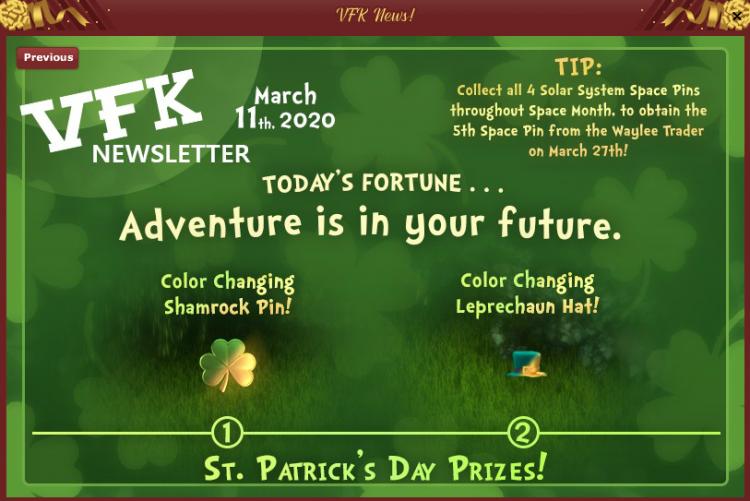St Patricks Tasks Prizes Newsletter