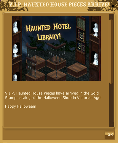 LF Gold Stamp Spree HAUNTED HOTEL LIBRARY EDITION