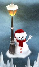 snowmanlamp