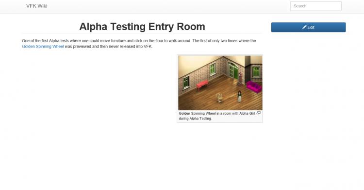 Alpha Testing Room