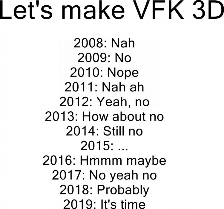 NO YEAR meme 3D