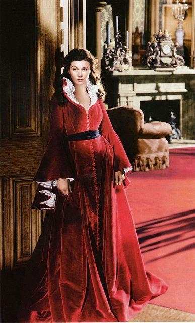 gone with the wind red dress