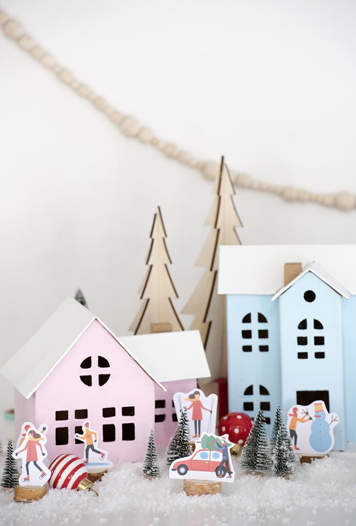 diy-christmas-village-with-free-printables-11