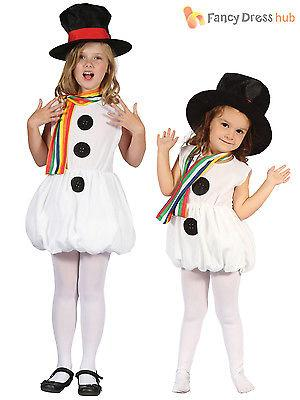 Girls-Snowman-Costume-Childs-Toddler-Christmas-Fancy-Dress