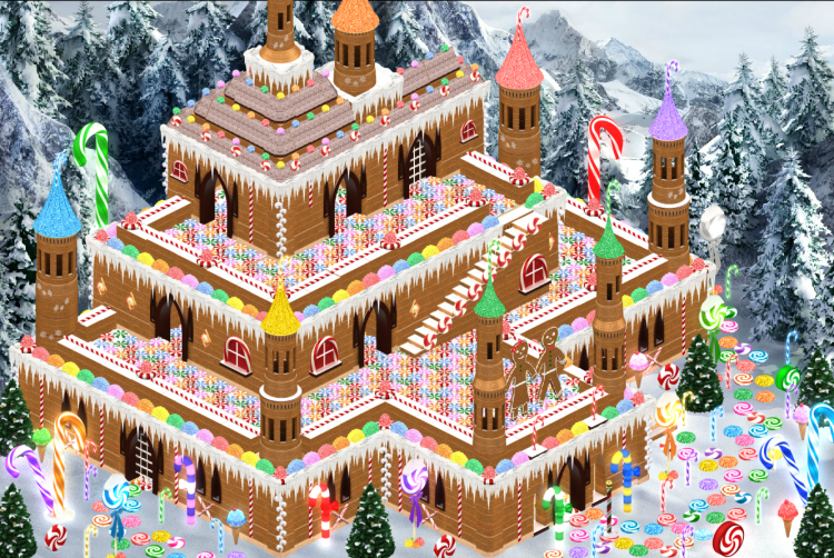 Christmas Candy Castle