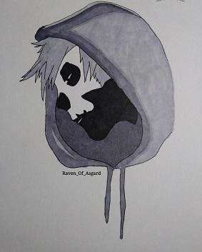 Black Parade Skull Art